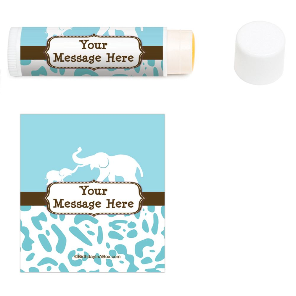 Wild Safari Blue Personalized Lip Balm (12 Pack) BB1357LB