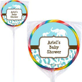 Wild Safari Blue Personalized Lollipops (12 Pack)