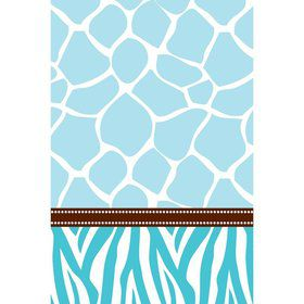 Wild Safari Blue Table Cover (Each)