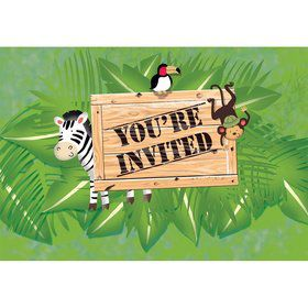 Wild Safari Invitations (8 Pack)