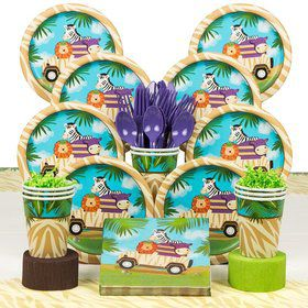 Wild Safari Party Deluxe Tableware Kit Serves 8