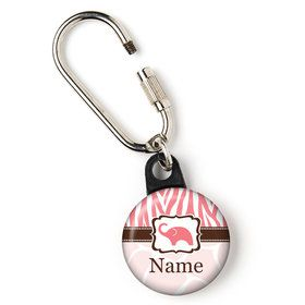 "Wild Safari Pink Personalized 1"" Carabiner (Each)"