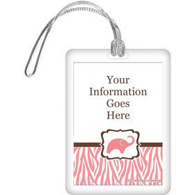 Wild Safari Pink Personalized Bag Tag (Each)
