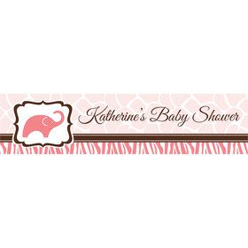Wild Safari Pink Personalized Banner (Each)