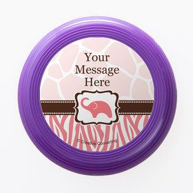 Wild Safari Pink Personalized Mini Discs (Set of 12)