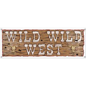 Wild West Sign Banner (Each)