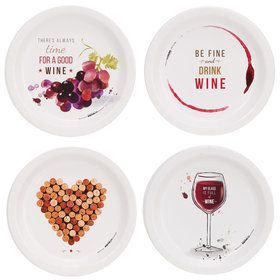 Wine Party Assorted Appetizer Plates (32)