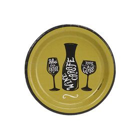 Wine Time Party Green Cocktail Plates (8)