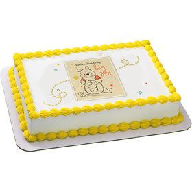 Winnie the Pooh Baby Joy Quarter Sheet Edible Cake Topper (Each)
