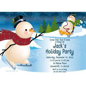 Winter Fun Personalized Invitation (Each)