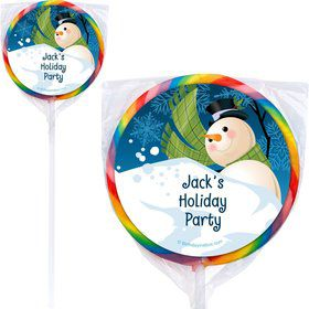 Winter Fun Personalized Lollipops (12 Pack)