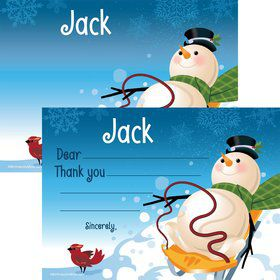 Winter Fun Personalized Thank You Note (Each)