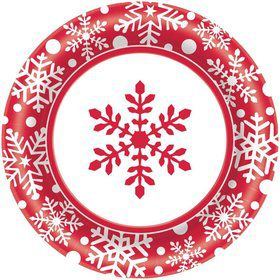 "Winter Holiday 6 3/4"" Cake Plates (40 Pack)"