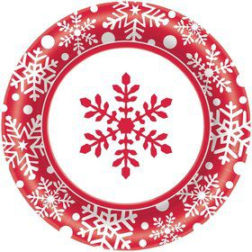 "Winter Holiday 8 1/2"" Luncheon Plates (40 Pack)"