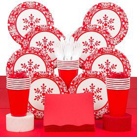 Winter Holiday Party Deluxe Tableware Kit Serves 40