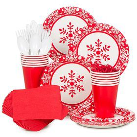Winter Holiday Standard Tableware Kit Serves 40