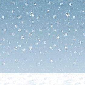 Winter Sky Backdrop Wall Decoration (Each)