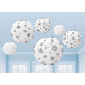 Winter Snowflake Hanging Lanterns (6)