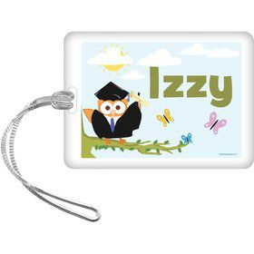 Wise Owl Grad Personalized Bag Tag (Each)