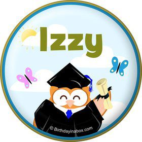 Wise Owl Grad Personalized Button (Each)