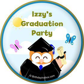 Wise Owl Grad Personalized Magnet (Each)