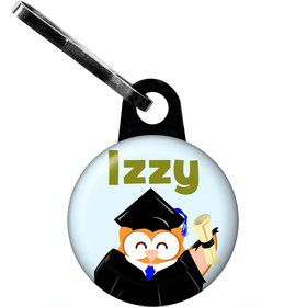 Wise Owl Grad Personalized Zipper Pull (Each)