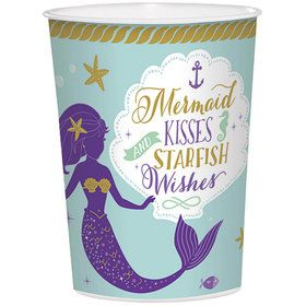 Wishful Mermaid 16oz Plastic Favor Cup (1)