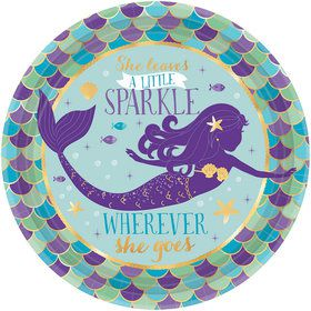 Wishful Mermaid Dessert Plates (8)