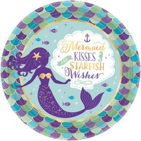 Wishful Mermaid Lunch Plates (8)