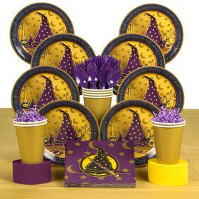 Wizard Realm Party Deluxe Tableware Kit (Serves 8)