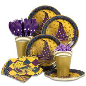 Wizard Realm Party Standard Tableware Kit (Serves 8)