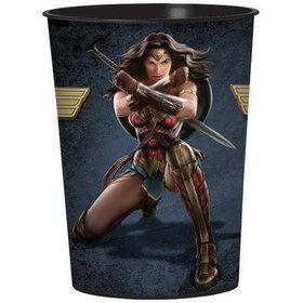 Wonder Woman 16oz Plastic Favor Cup (Each)