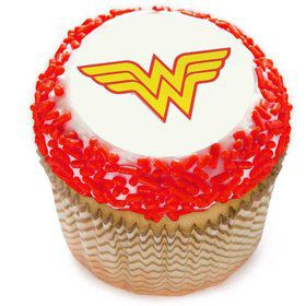 "Wonder Woman 2"" Edible Cupcake Topper (12 Images)"