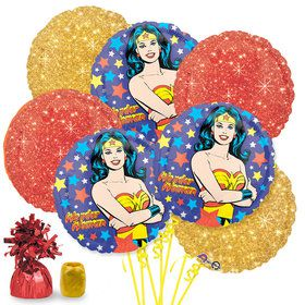 Wonder Woman Balloon Bouquet Kit