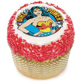 "Wonder Woman Girl Power 2"" Edible Cupcake Topper (12 Images)"