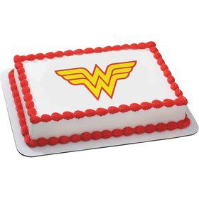 Wonder Woman Quarter Sheet Edible Cake Topper (Each)