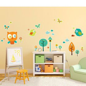 Woodland Animals Giant Wall Decal