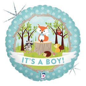 "Woodland Baby Boy 18"" Balloon"