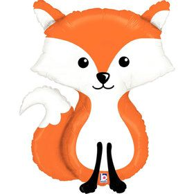 Woodland Fox Jumbo Foil Balloon