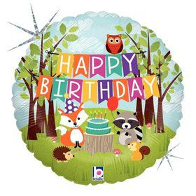 "Woodland Party 18"" Foil Balloon"