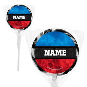 "Wrestling Party Personalized 2"" Lollipops (20 Pack)"