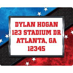 Wrestling Party Personalized Address Labels (sheet of 15)