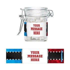 Wrestling Party Personalized Glass Apothecary Jars (12 Count)