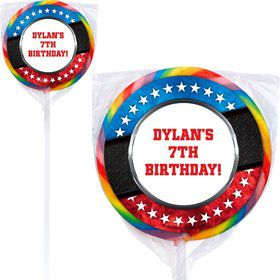 Wrestling Party Personalized Lollipop (12 Pack)
