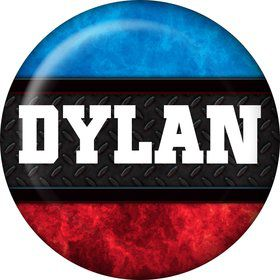 Wrestling Personalized Mini Button - Each