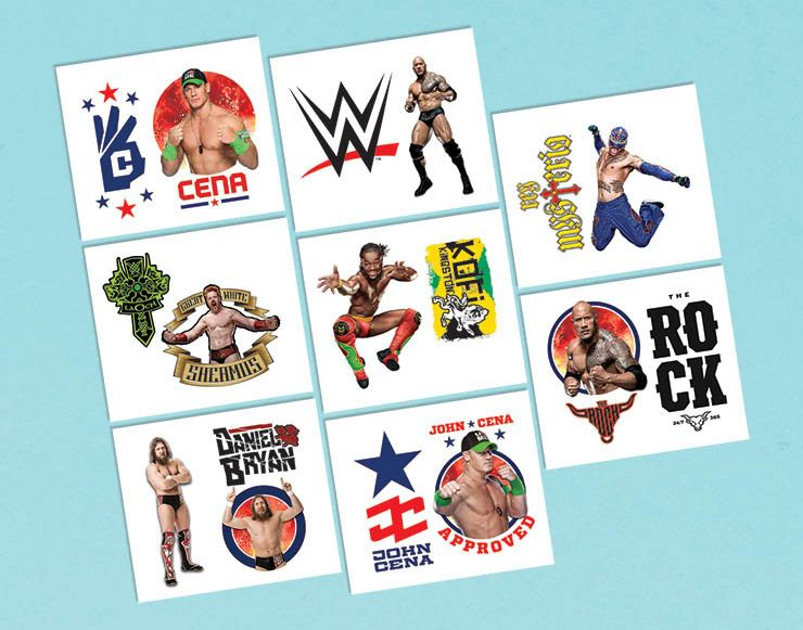 "Wwe 2"" Tattoo Favors (16 Pack) BB395658"