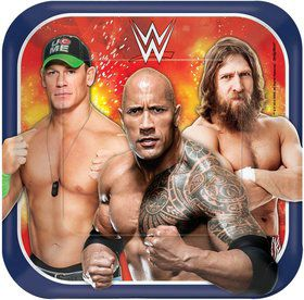 "WWE 7"" Cake Plates (8 Pack)"