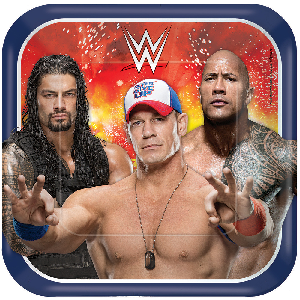"WWE 9"" Luncheon Plates (8 Pack) BB550007"