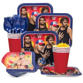 WWE Birthday Party Standard Tableware Kit Serves 8