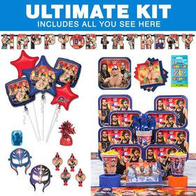 WWE Birthday Party Ultimate Tableware Kit Serves 8